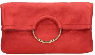 L'Autre Chose Red Leather Clutch