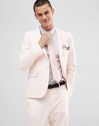 Asos DESIGN wedding skinny suit jacket in dusky pink