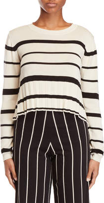 Alysi Striped Crew Neck Sweater