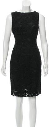 Prada Scoop Back Lace Dress