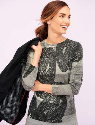 Talbots Audrey Cashmere Sweater - Plaid and Paisley