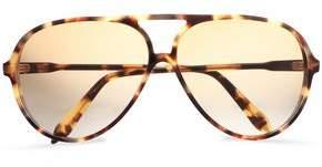 Victoria Beckham Fine Aviator-style Tortoiseshell Acetate Sunglasses