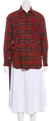 R 13 Wool Plaid Tunic
