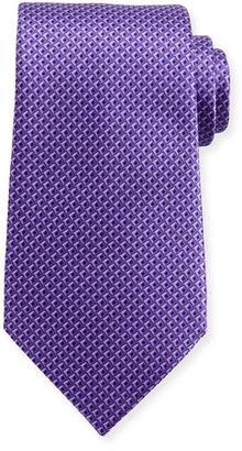 Ermenegildo Zegna Tonal 3D Diamond Silk Tie, Purple $195 thestylecure.com
