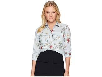 Lauren Ralph Lauren Petite Floral Cotton Shirt