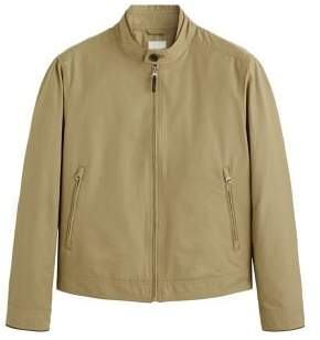MANGO MAN Elbow-patched cotton jacket
