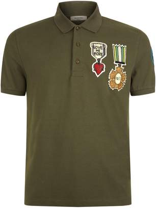 Valentino Military Polo Shirt
