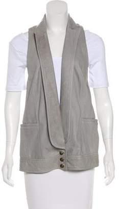 Diane von Furstenberg Tuxlie Leather Vest w/ Tags