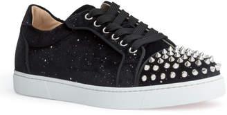 Christian Louboutin Vieira black velvet spike sneakers