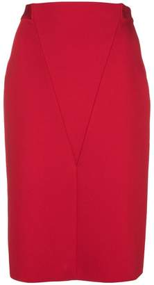 Givenchy V front pencil skirt