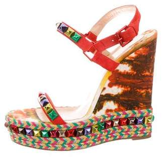 Christian Louboutin Cataclou Espadrille Wedges