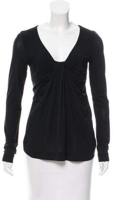 RED Valentino Draped V-Neck Top