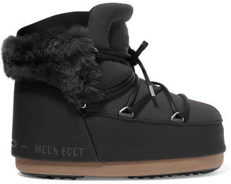 Moon Boot Buzz Faux Fur-trimmed Neoprene And Faux Leather Snow Boots