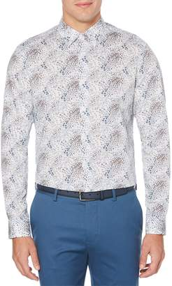 Perry Ellis Dressy Essentials Abstract Floral Long Sleeve Sport Shirt