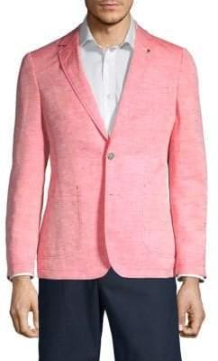 Textured Linen Blend Sport Jacket