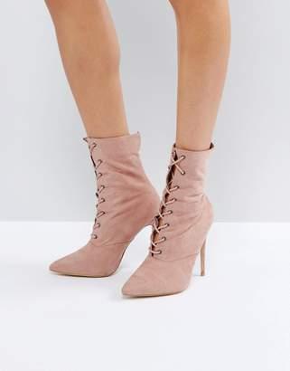 Public Desire Spectrum Paperbag Lace Up Ankle Boots