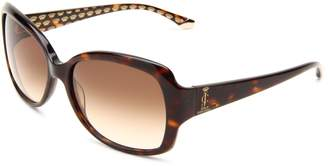 Juicy Couture Women's Juicy 503/S Rectangle Sunglasses,Brown Frame/Brown Grad...