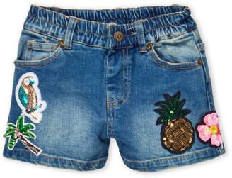 Baby Sara Girls 4-6x) Sequin Patch Denim Shorts