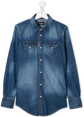 DSQUARED2 TEEN denim shirt