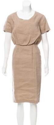 Burberry Wool & Linen Midi Dress