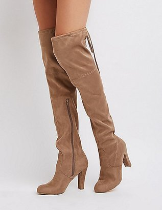 Tie-Back Over-The-Knee Boots $44.99 thestylecure.com