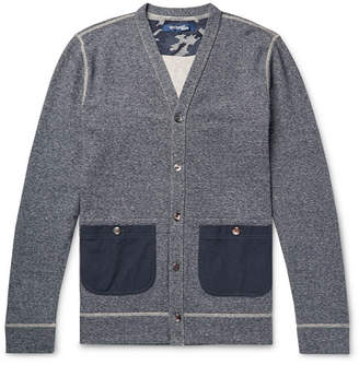 Junya Watanabe Slim-Fit Ripstop-Trimmed Mélange Cotton-Jersey Cardigan