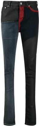 Rick Owens patchwork skinny jeans