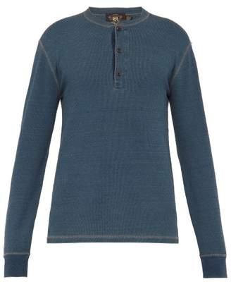 Rrl - Long Sleeved Thermal Cotton Knit Henley Shirt - Mens - Indigo