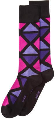 Alfani AlfaTech by Men Geometric-Print Socks