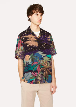 Paul Smith Men's Tailored-Fit 'Midnight' Print Short-Sleeve Shirt