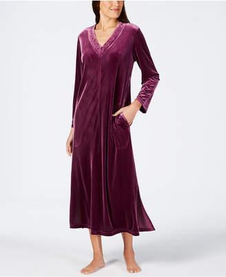 Charter Club Long Velvet Zip Robe, Created for Macy's