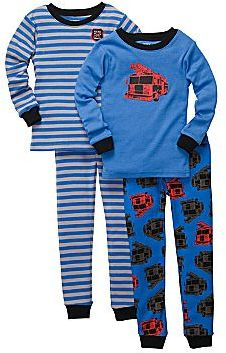 Carter's Carter's® 4-pc. Fire Truck & Striped Pajamas - Boys 2t-5t