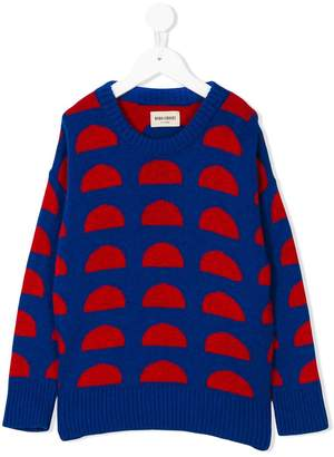 Bobo Choses two-tone knitted jumper