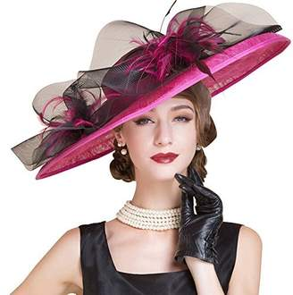 HomArt Women's Floral Church Christening Derby Kentucky Hats Wedding Party Hat