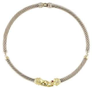 David Yurman 14K Tourmaline Cable Collar Necklace