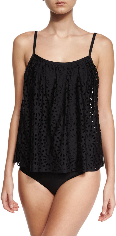 Luxe by Lisa Vogel Aphrodite Floral Sway Tankini Swim Top 4