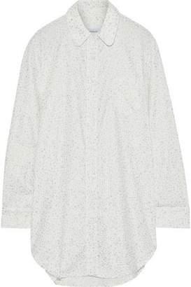 Three J NYC Grace Metallic Printed Cotton-Flannel Nightshirt