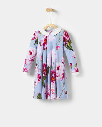 Ted Baker DOUZA Floral dress with collar detail