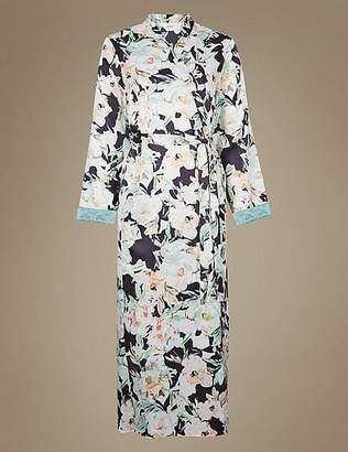 Marks and Spencer Floral Print Wrap Dressing Gown