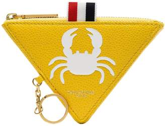 Thom Browne canary yellow crab triangle leather wallet