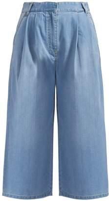 Tibi Wide Leg Denim Jeans