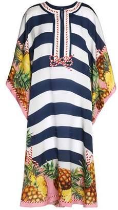 Dolce & Gabbana Striped Silk Coverup