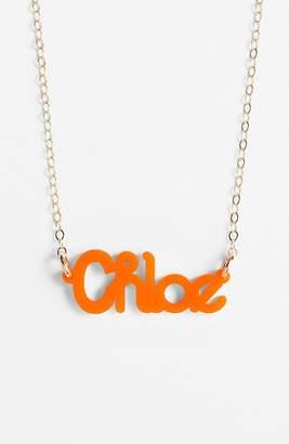 Moon and Lola 'Zebra Block Font' Personalized Nameplate Pendant Necklace