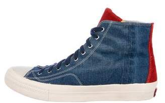 Visvim Denim High-Top Sneakers w/ Tags