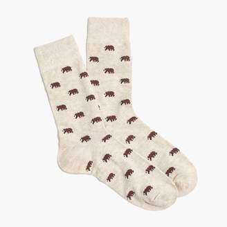 J.Crew Brown bear socks
