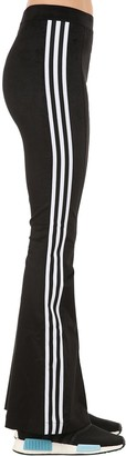 adidas FLARED COTTON BLEND TRACK PANTS