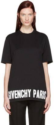 Givenchy Black Logo T-Shirt $530 thestylecure.com