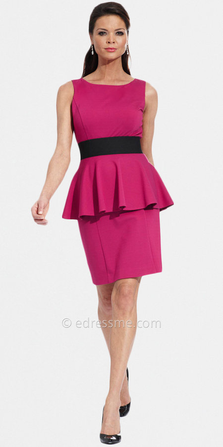 Fuchsia Peplum Day Dresses from NUE by Shani