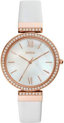Fossil Madeline White Leather Watch
