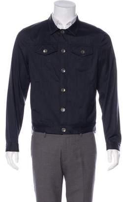 Brunello Cucinelli Wool & Silk Button-Up Trucker Jacket